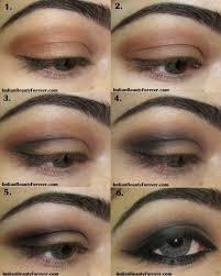 smokey eye makeup for brown eyes 照片smokey brown eye makeup step by step tutorial indian