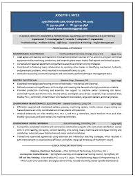 Sample Resume For Electrical Technician Best Electrician Sample Resume