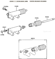 fj  fj  fj  and fj  clutch slave cylinder illustration diagram    fj  hj  clutch slave cylinder diagram