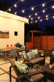 backyard string lighting. How To Install Commercial Grade Patio String Lights With Guidewires Backyard Lighting