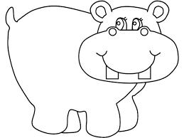 Hippopotamus Coloring Pages Swifteus