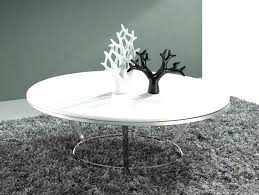 white round coffee table with single metal leg house light wood top