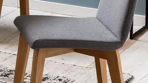 Polsterstuhl Ontario 1 Esszimmerstuhl Stuhl Stoff Grau Und
