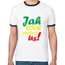Футболка Ringer-T Jah love <b>protect Us</b>! купить на Printdirect.ru ...