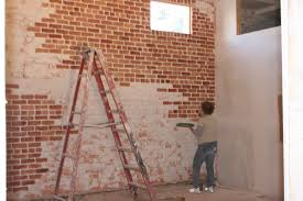 Painting Fake Brick Paneling Artificial Stoneaux Brick Wall Tiles Panels Whiteor Interiorfaux