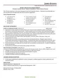 Interesting Senior Event Manager Resume Sample Credit And