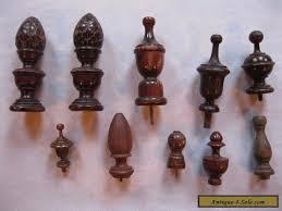 vintage antique wood furniture finials lot of 10 for