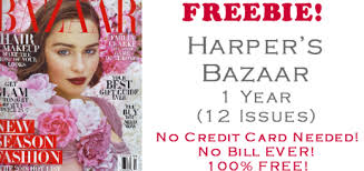 harpers bazaar magazine free subscription 1 year