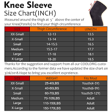 Mcdavid Knee Pads Size Chart Knee Pads Coolomg Basketball Running Nebula Long Leg Knee
