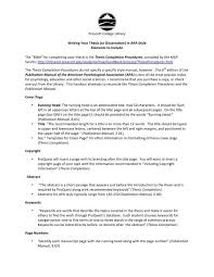 What Is Apa Style Writing Writing Your Thesis In Apa Style Prescott College