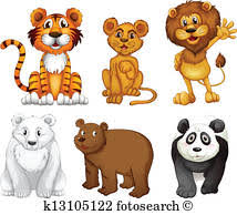 wild animals clipart. Delighful Animals Six Wild Animals With Wild Animals Clipart L