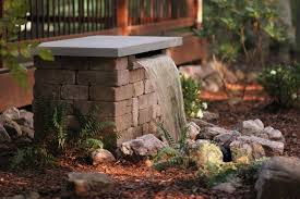 build a stone waterfall fountain