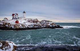 Wallpaper winter, sea, the sky, snow ...