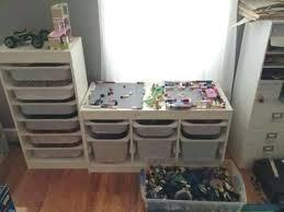ikea trofast shelf storage bins storage ideas solutions real life examples shelves bins for storing makeshift