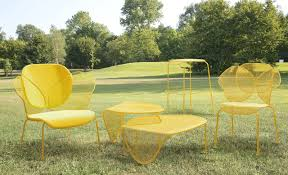 ... Patio, Colorful Patio Furniture Discount Outdoor Furniture Unique Patio  Chair In Yellow Color Net Patio ...