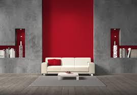 Wohnzimmer Wand Rot Streichen