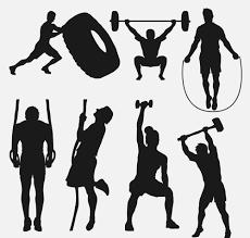 健身人物剪影素材7款创意健身人物剪影矢量素材素材吧