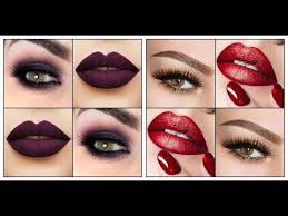 eye shadow and lipstick color matching trendy makeup color binations ideas 2018