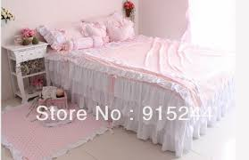 pink ruffle princess cotton duvet cover
