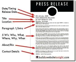 The Press Release Template Pr Newswire Sample Thepathetic Co