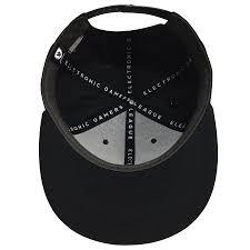 EGL Premium Label 6 Panel Patchable Snapback Hat - Blk Electronic