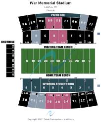 Wyoming Cowboys Stadium Seating Chart Cheap War Memorial Stadium Wy Tickets