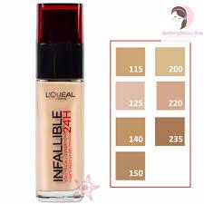 swatch and l oreal infallible makeup liquid foundation makeup daily l oreal paris