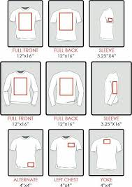 Sizing Chart For Designing With Htv On A T Shirt Cricut