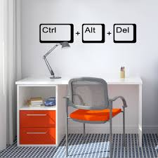 ctrl alt del wall sticker  geek wall sticker  study office wall