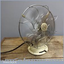 early vintage retro limit 240v electric desk fan salvage pat tested