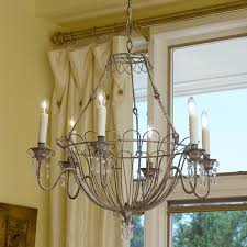 kitchen chandeliers lighting elegant french wire basket chandelier lighting
