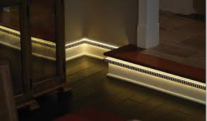 Baseboard lighting Led Light Integrated Trim lit Is Keelers Latest Product Innovation Lit Combines Decorative Tiles Led Technology And Traditional Trim Choices To Create Kbis Lighting Innovation Kbis