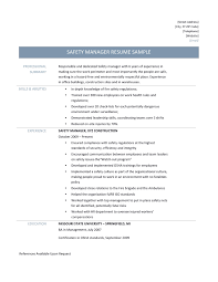 Safety Resume Resume Ideas
