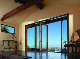 traditional living space with folding outswing door