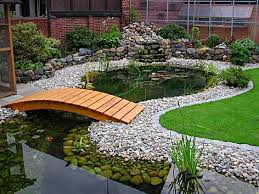 Small Picture Garden pond We love the wooden bridge waterfeature pond