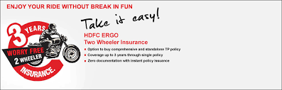 bike insurance policy get two wheeler quotes hdfc ergo