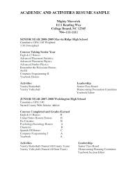 Activity Resume Templates Extracurricular Activities Resume Template Activities Resume