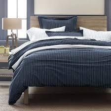 spencer stripe flannel duvet sham designed with a handsome white pinstripe on a navy plain navy blue single duvet cover duvet covers navy blue navy blue