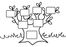 Small Picture Family Tree Coloring Pages Printable Draw Background Family Tree
