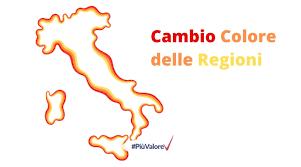 Covid: Cambio Colore Regioni 4 in zona rossa e 4 in zona arancione