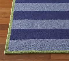 navy light blue rugby stripe rug swatch