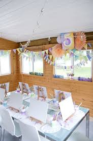 artist party table with watercolor decorations paint party ideas