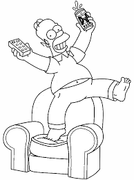 The Simpsons Black White Homer Color Ins