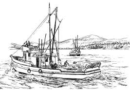 Small Picture Coloring page fishing boat img 8059