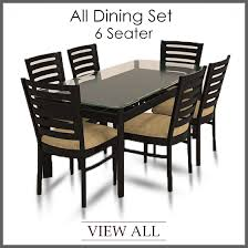 6 seater dining set six table and chairs furniture within for prepare 17