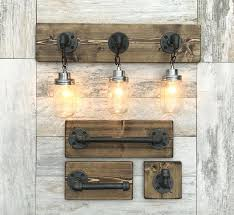 rustic bathroom lighting fixtures. Rustic Bath Light Fixtures Bathroom Vanity With Best Lights Ideas On . Lighting