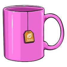 pink tea bag clip art. Wonderful Clip Vector  Cartoon Pink Single Mug With Tea Bag On White Background In Tea Bag Clip Art R