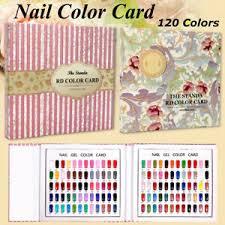 Nail Type Chart Details About 120 Colors Nail Art Chart Book 120 Tips Nail Polish Gel Color Display Card