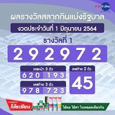 ผลรางวัลสลากกินแบ่งรัฐบาล - สำนักข่าวไทย อสมท