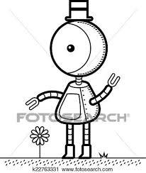 シルクハット ロボット クリップアート切り張りイラスト絵画集